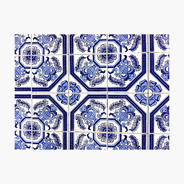 Portugal Tile Number Eighteen Photographic Print