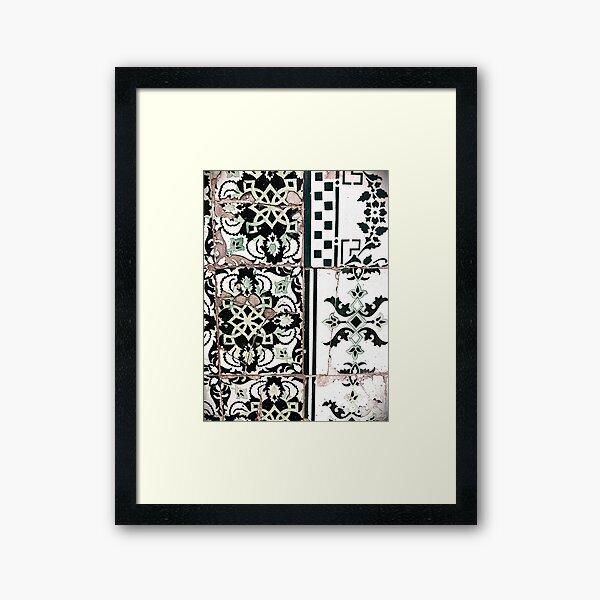 Portugal Tile Number Nineteen Framed Art Print
