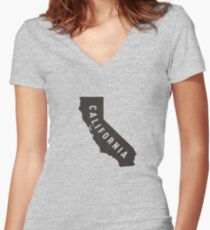 California - My home state Women's Fitted V-Neck T-Shirt