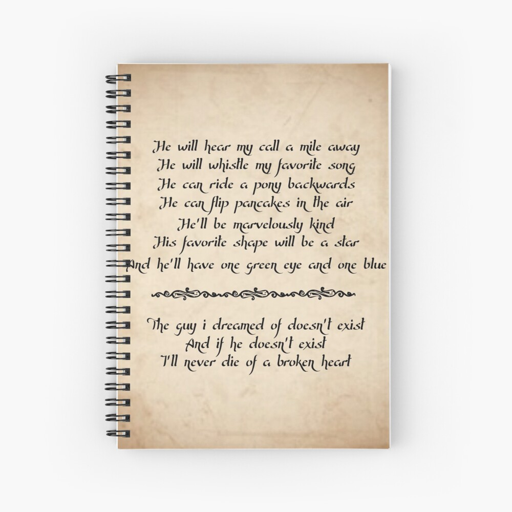 Practical Magic Love Spell Quote Spiral Notebook By Juliathethird Redbubble