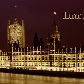 Parlament night lights by leksele