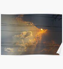 Smokey Sunset Poster