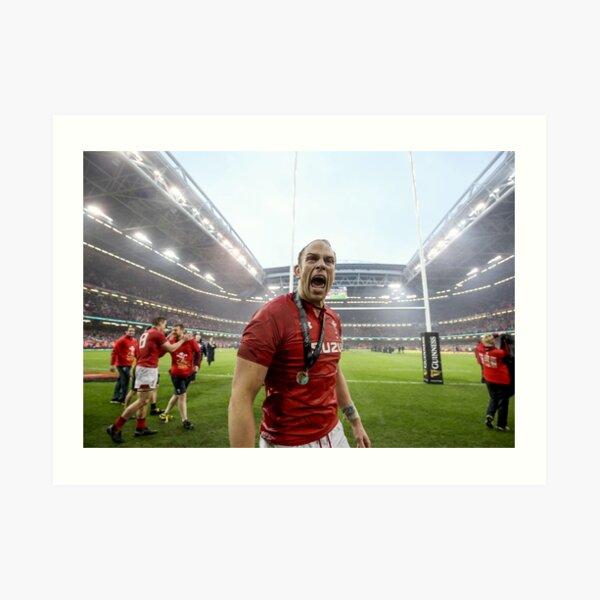 Alun Wyn Jones Wales Rugby World MVP Art Print