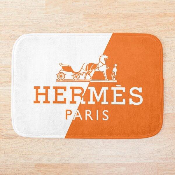 orange,white,hermes,exelent Bath Mat
