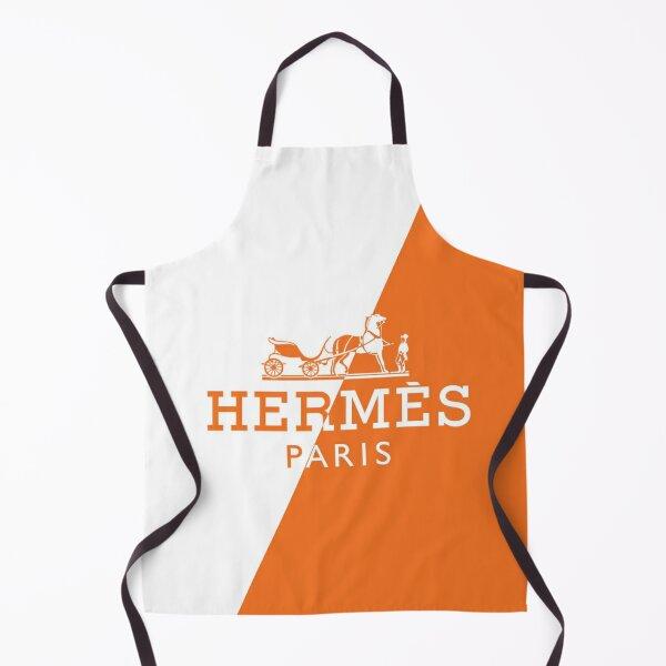 orange,white,hermes,exelent Apron