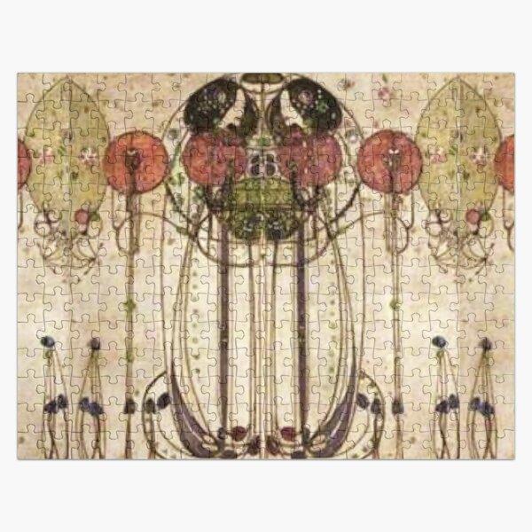 Charles Rennie Mackintosh. The Wassail 1900  (Detail, Crop). Jigsaw Puzzle