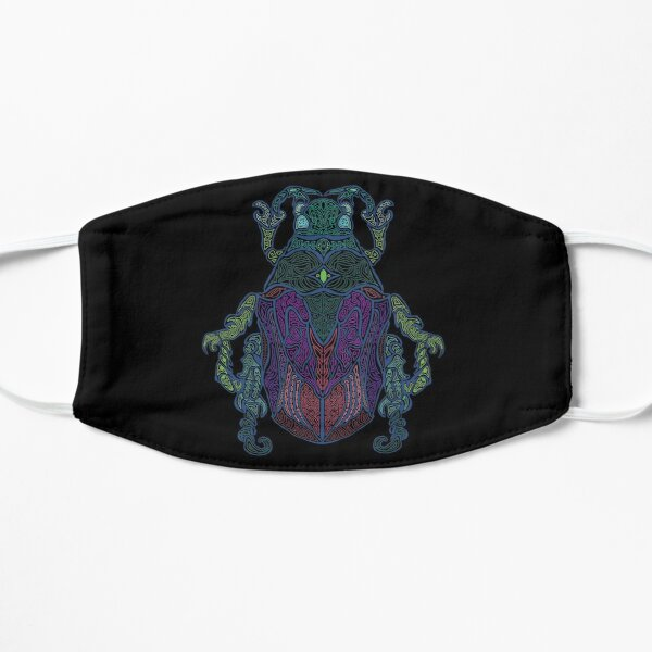 Tribal Multi-colored Beetle Flat Mask