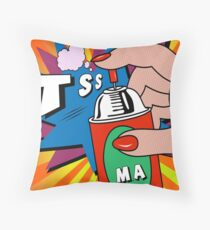 pop art Throw Pillow
