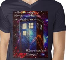 The Galaxy Tardis Mens V-Neck T-Shirt