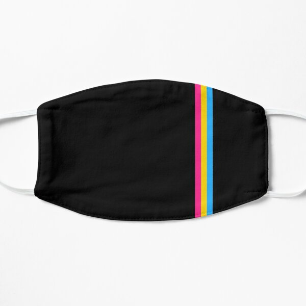 Pan Pride Flag Minimalist Mask