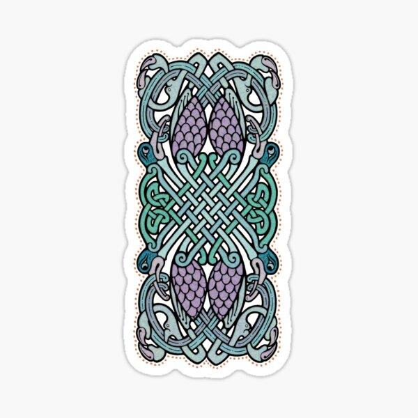 Four Celtic Birds Sticker