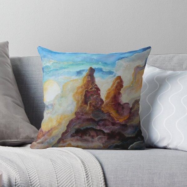 Storm Moon Throw Pillow