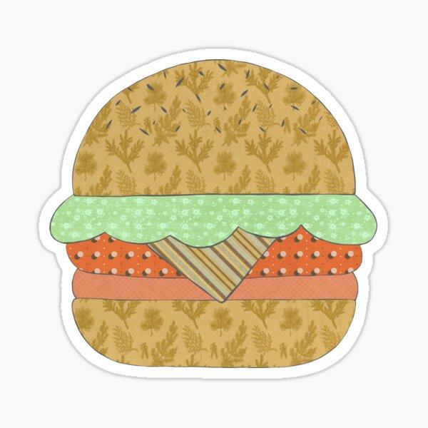 Burger Mixed Media Sticker Sticker