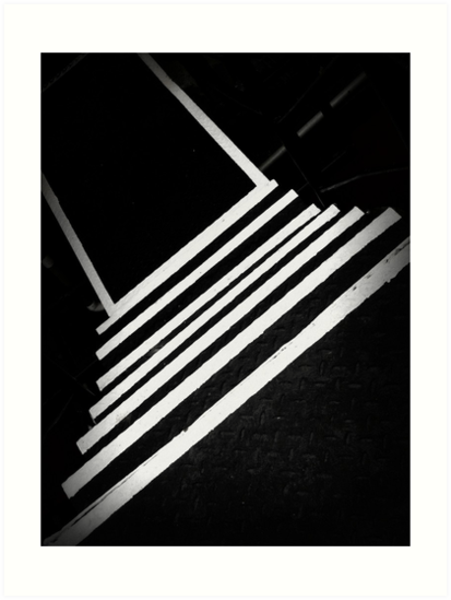 Going Down Steps On a White Line by paintingsheep