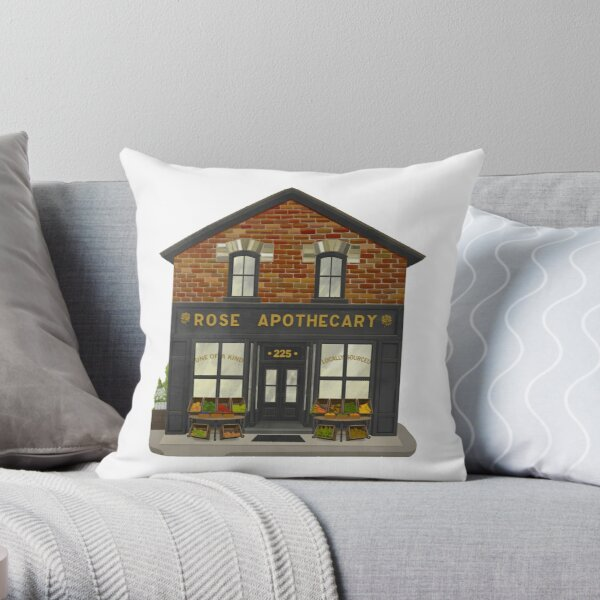Rose Apothecary Illustration Throw Pillow