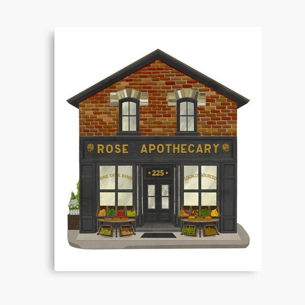 Rose Apothecary Illustration Canvas Print