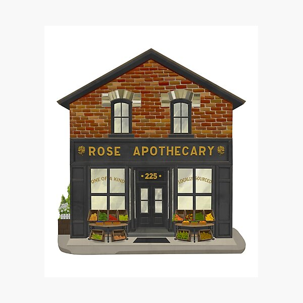 Rose Apothecary Illustration Photographic Print