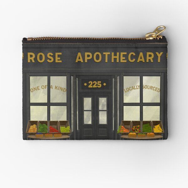 Rose Apothecary Illustration Zipper Pouch