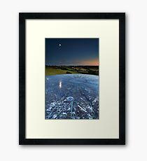 Moon Reflection in the Distances Framed Print