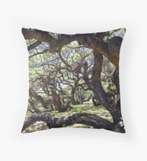 In the Depth of Enchanting Forest  Throw Pillow