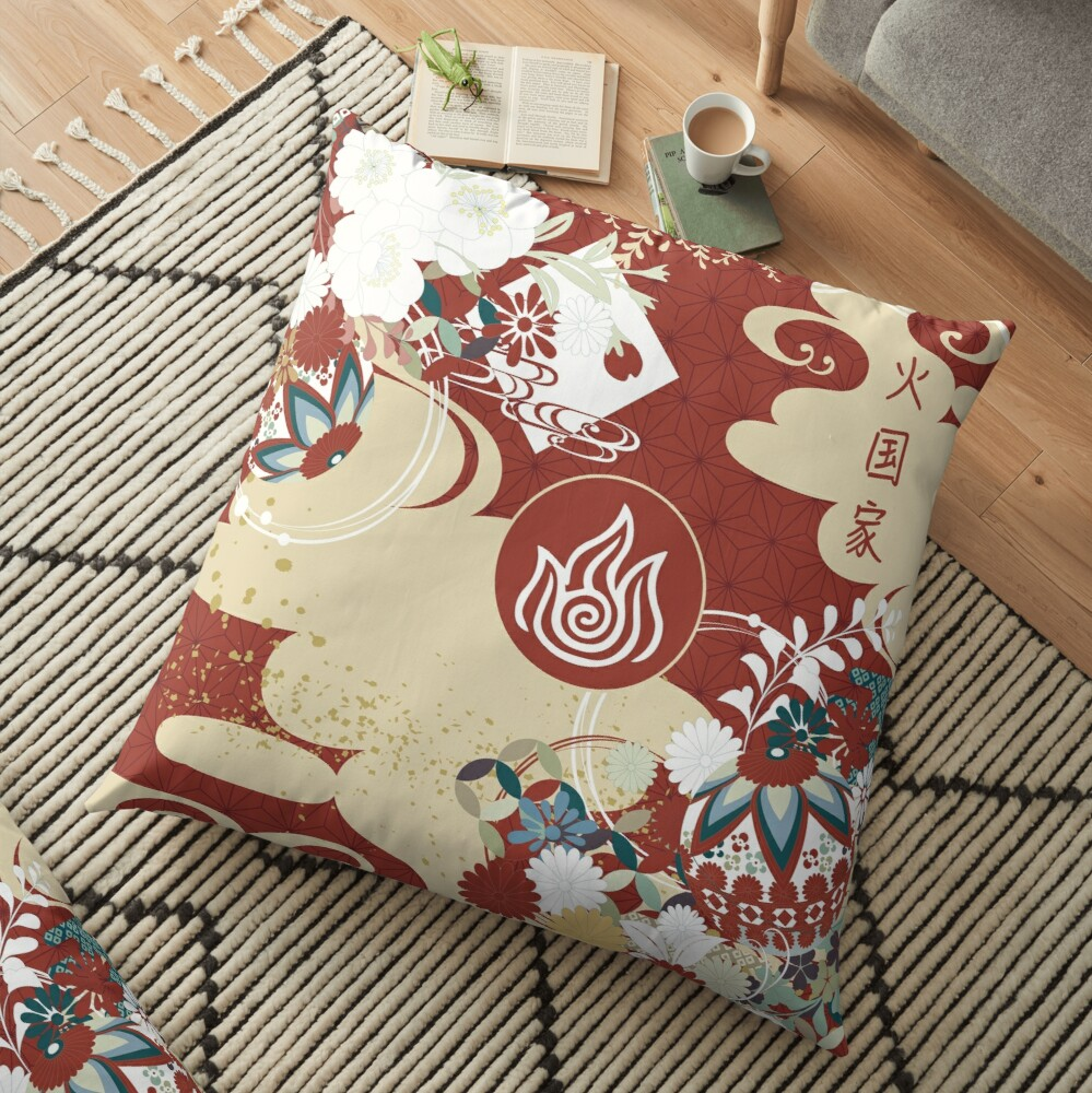 Fire Nation Tapestry Floor Pillow