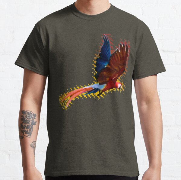 Scarlet macaw upwards wings Classic T-Shirt