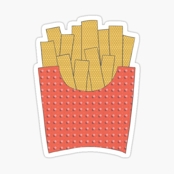 Fries Mixed Media Sticker Sticker