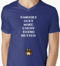 Tanooki Suit Make Everything Better Men's V-Neck T-Shirt
