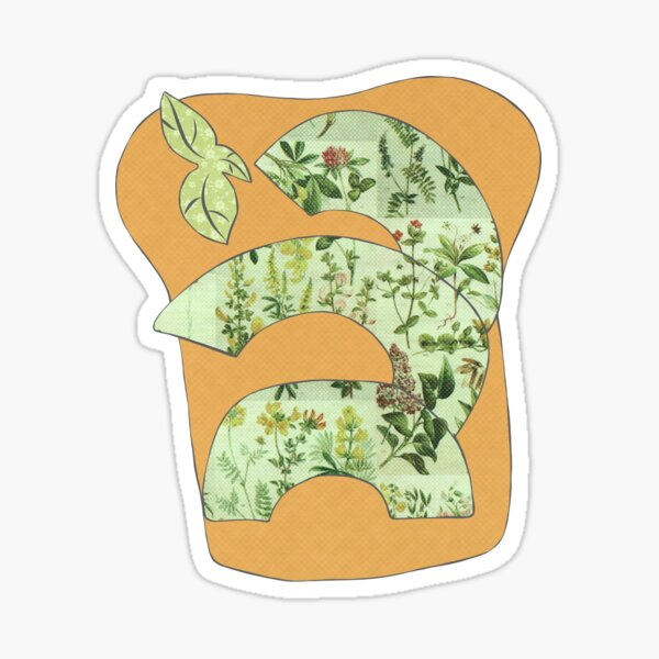 Avocado on Toast Mixed Media Sticker Sticker