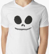 Jack Skellington Mens V-Neck T-Shirt