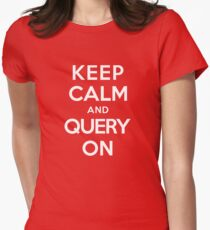 Query On Women's Fitted T-Shirt