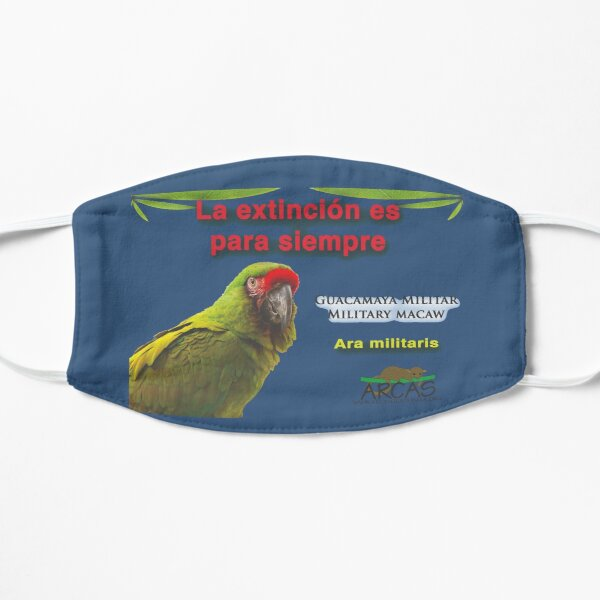 Extinction is for ever: military macaw Flat Mask