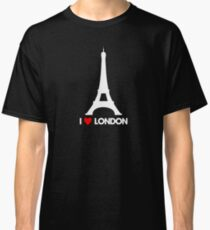 I Heart London Eiffel Tower - Joke T-Shirt  Classic T-Shirt