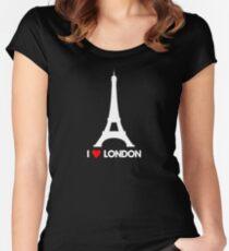 I Heart London Eiffel Tower - Joke T-Shirt  Women's Fitted Scoop T-Shirt