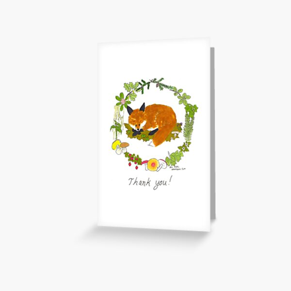 Thank You Fox Greeting Card