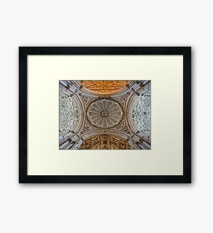 Cathedral Ceiling - Cordoba, Spain Framed Print