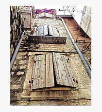 Split window shutters Photographic Print