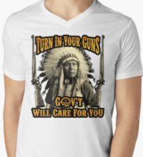 Turn in your Guns Men's V-Neck T-Shirt