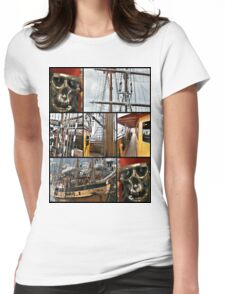tall ship festival Womens Fitted T-Shirt