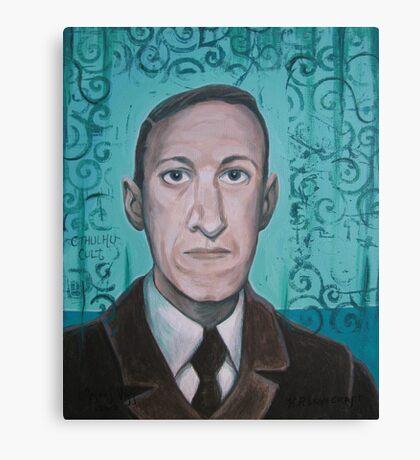 HP Lovecraft second portrait Canvas Print