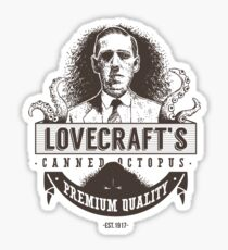 Lovecraft's Canned Octopus Sticker