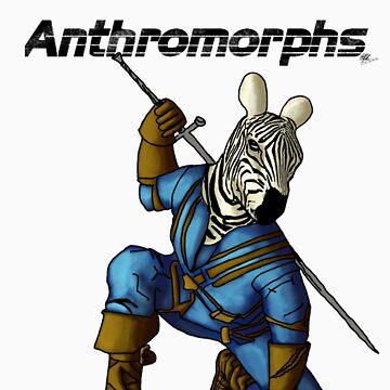 Anthromorphs Zebra by draon