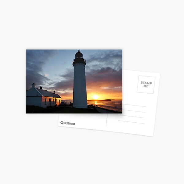 Sunrise at Cantick Head Lighthouse self catering cottage Postcard