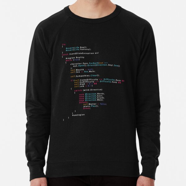 Is This The Real Life Coding Programming Color Lightweight Sweatshirt