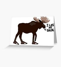 "Sam Winchester - Supernatural - ""I lost my shoe"" Greeting Card"