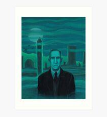 HP Lovecraft the explorer Art Print