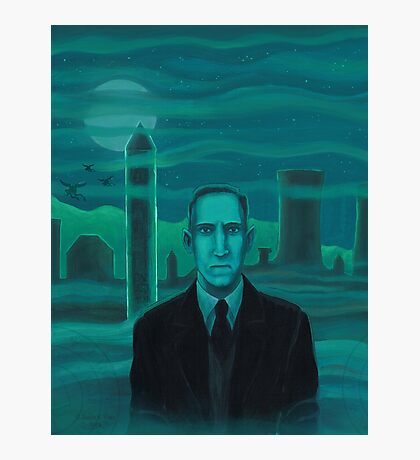 HP Lovecraft the explorer Photographic Print