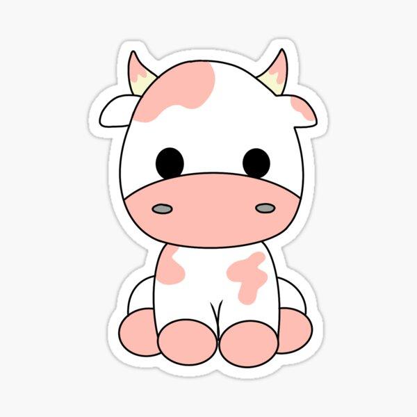 Cute strawberry cow? Sticker