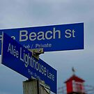 Beach and Lighthouse Corner by bdoherty