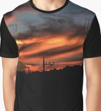 Smoke and Fire Graphic T-Shirt